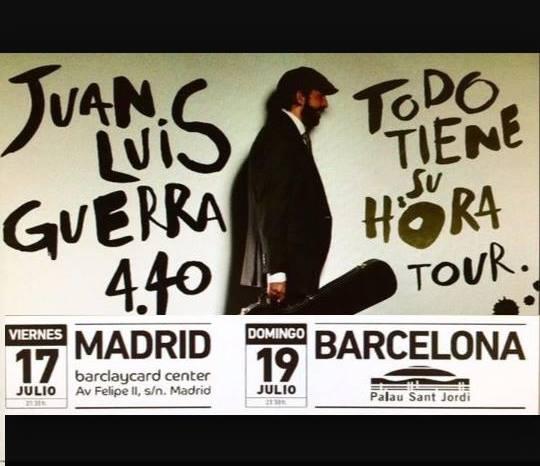 Tour 2015 #JuanLuisGuerra #TodoTieneSuHora