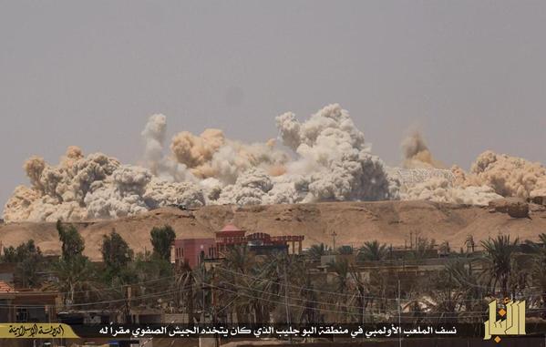 ISIS destruye estadio deportivo en Irak. Utilizaron 3.5 toneladas de explosivos