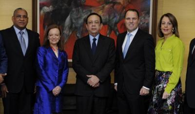 Gobernador BC recibe a nuevo presidente del Scotiabank en RD