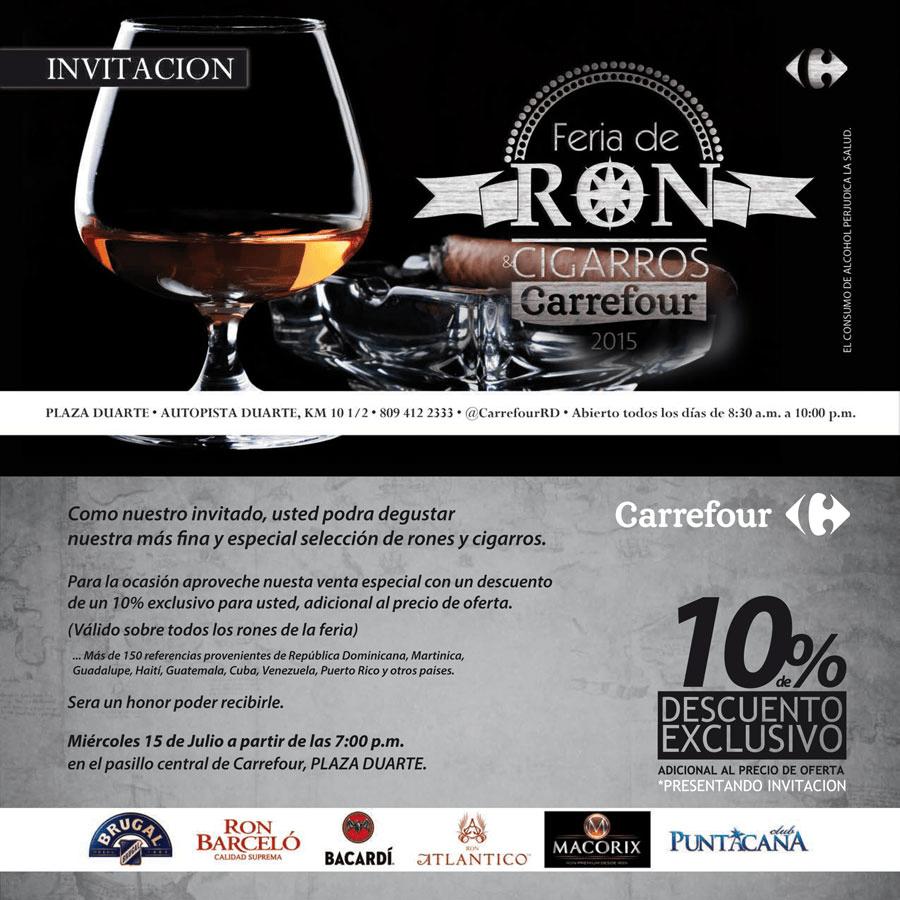 Realizarán la Feria del Ron Carrefour 2015