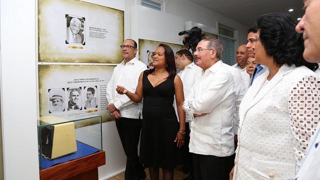 Danilo encabeza la  inauguración de réplica y Museo La Voz del Yuna
