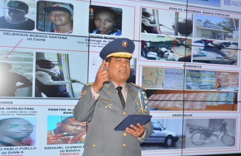 """""""Batatica"""", uno de los presuntos asaltantes del Banco Popular, tiene cuatro fichas, dos por homicidio"""