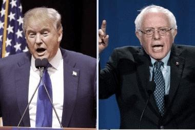 Trump y Sander ganaron las primarias en New Hampshire