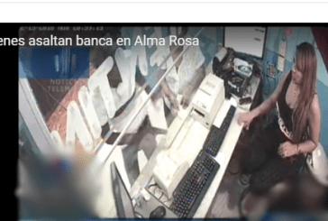 Atracadores azotan sector Alma Rosa Primero