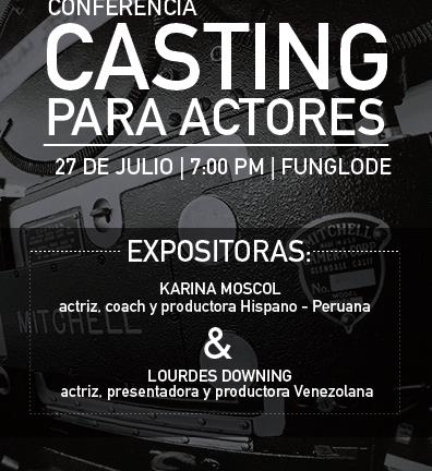 """Dirección General de Cine invita a la conferencia """"Casting para actores"""""""