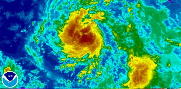 Gastón  la tormenta tropical Gastón sigue ganando fuerza