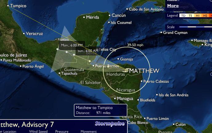 Sur del Caribe se prepara para paso del huracán Matthew