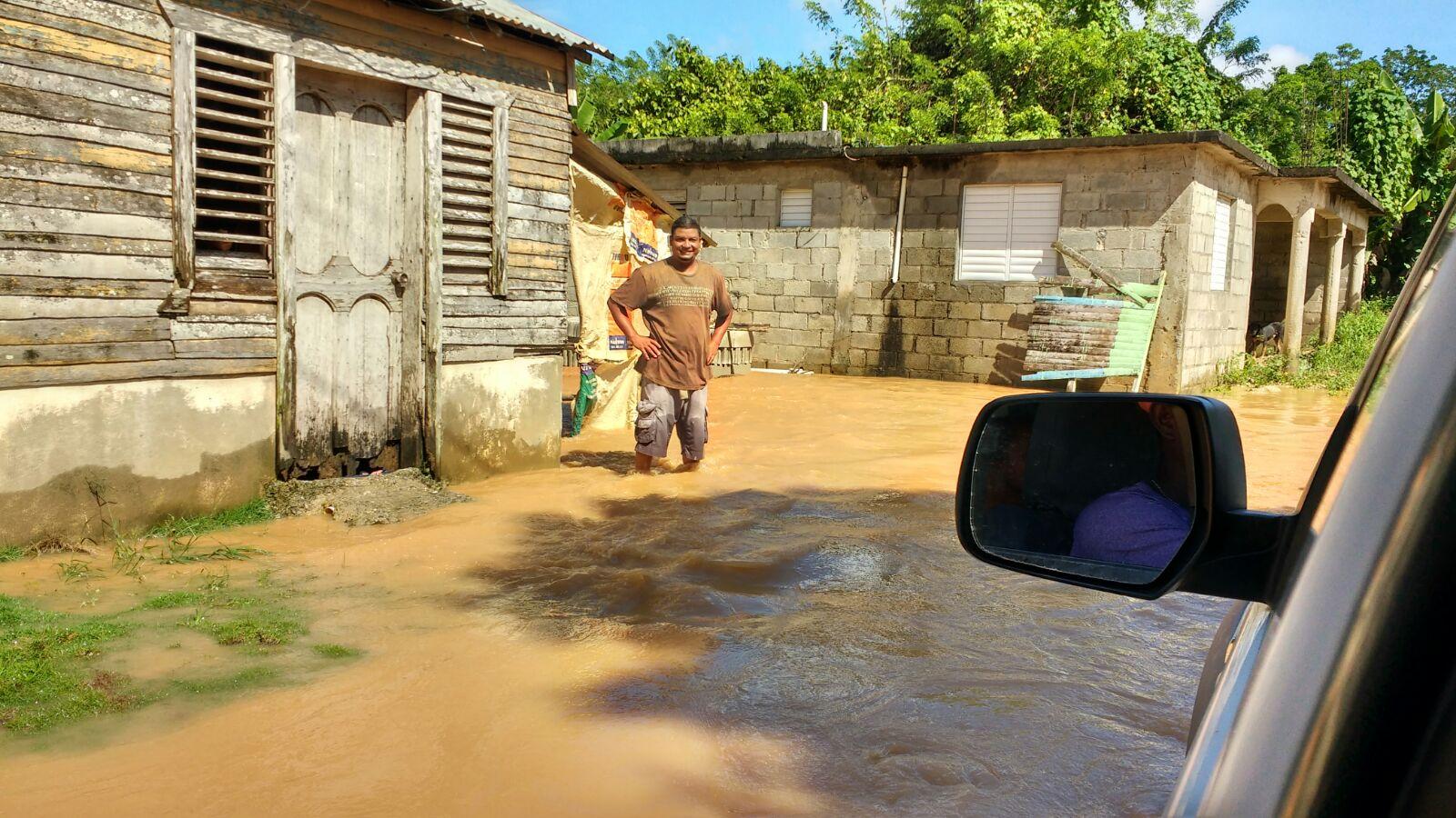 Más de 200 viviendas afectadas y varias comunidades incomunicadas en María Trinidad Sánchez