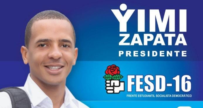 Yimi Zapata gana las elecciones estudiantiles de la UASD
