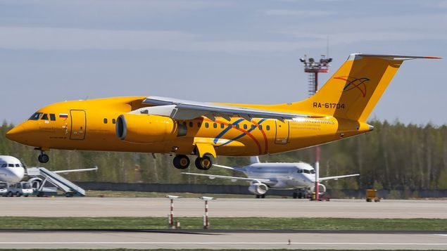 Un avión AN-148 con 71 personas a bordo se estrella en las afueras de Moscú