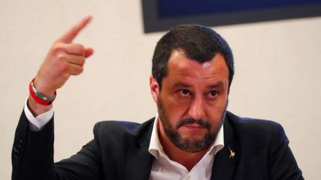 Salvini, firme en su postura antimigrantes.