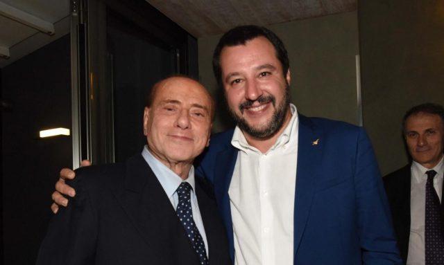 Berlusconi y Salvini. (La Presse)