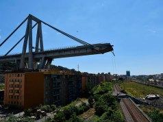 Derrumbe del puente Morandi.