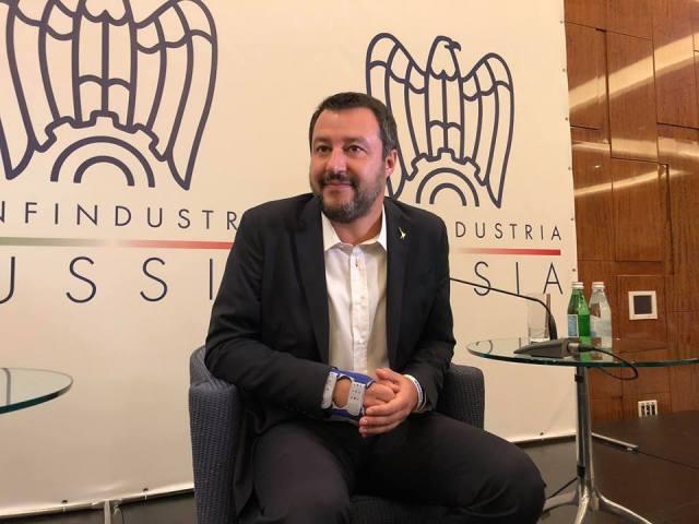 Matteo Salvini en Moscú. (Facebook)