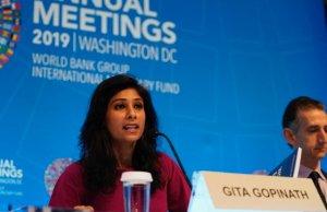 Gita Gopinath, directora del Departamento de Estudios del FMI.
