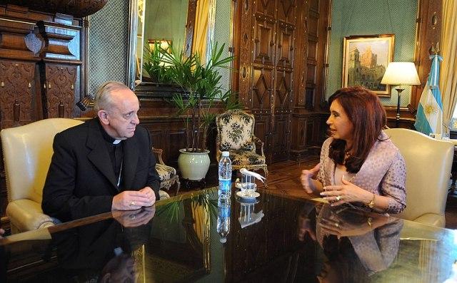 Jorge Bergoglio y Cristina Fernández de Kirchner.