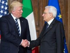Donald Trump y Sergio Mattarella.