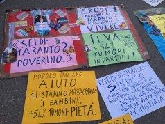 Protesta en Taranto.