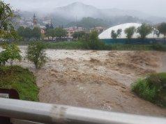 Aluvión en Sestri Levante.