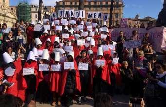 Marcha contra la violencia machista.