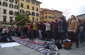 Flashmob 'Un violador en tu camino'.