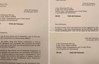 Cartas de Benedicto XVI.