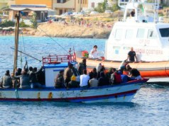 Rescate en Lampedusa.