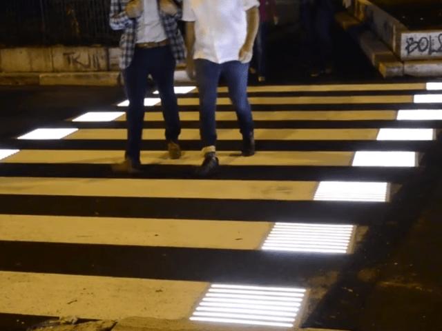 Senda peatonal en Roma