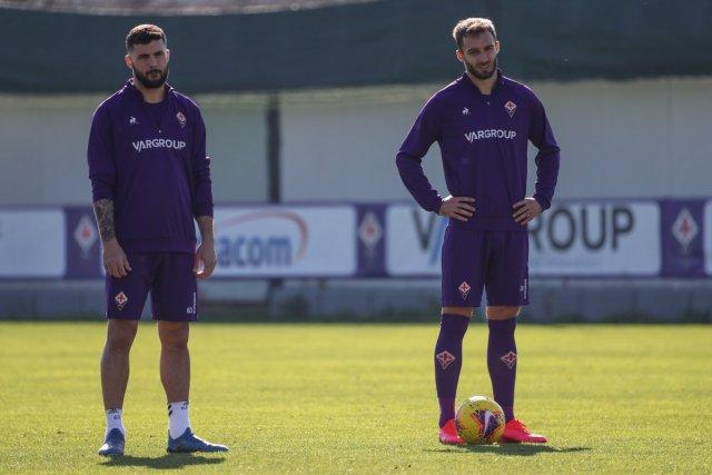 Germán Pezzella y Patrick Cutrone