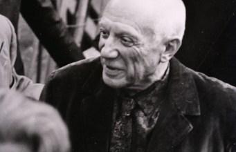 Picasso en Milán, en 1953