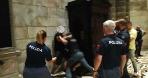 Incidente en el Duomo di Milano.