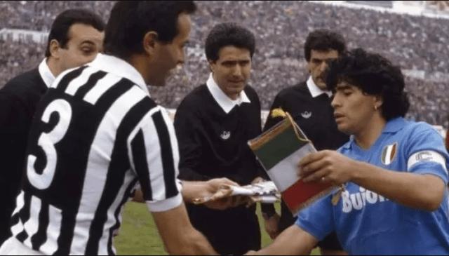Cabrini y Maradona.