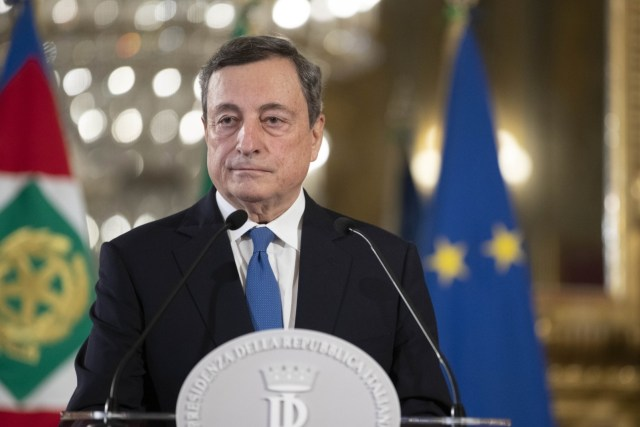 Mario Draghi, luego de entrevistarse con el presidente Mattarella (Foto: Quirinale)
