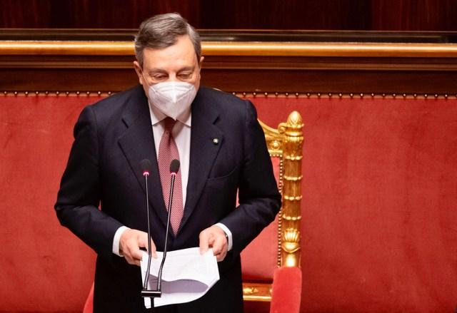 Draghi ante el Senado (Foto: Governo)