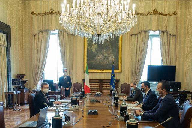 Mario Draghi, en la ronda de consultas en Montecitorio (Foto: Cámara de Diputados)