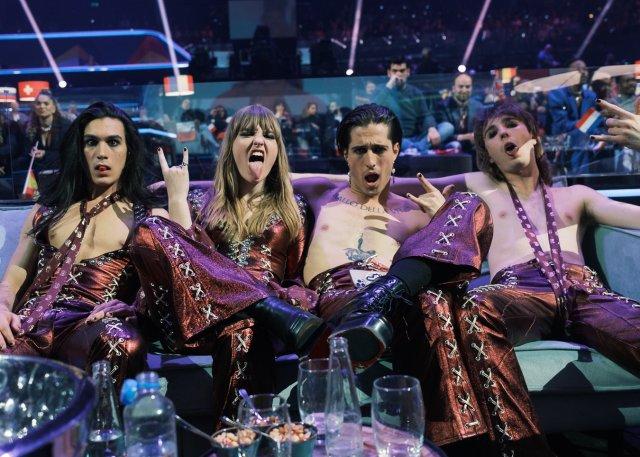 Maneskin en el Festival de Eurovision 2021 (Foto: Twitter Maneskin)