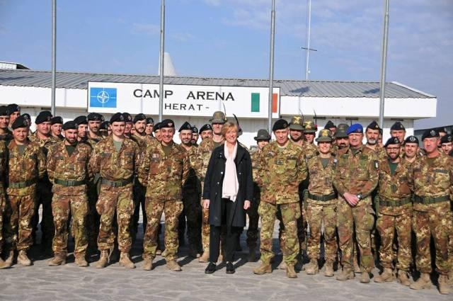 Tropas italianas en Afganistán.
