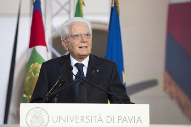 El presidente Mattarella, en Pavia (Foto: Quirinale)