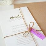 Invitación de boda tándem
