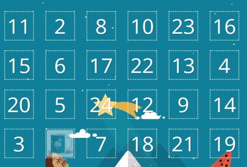 Calendarios de adviento con regalos y sorpresas