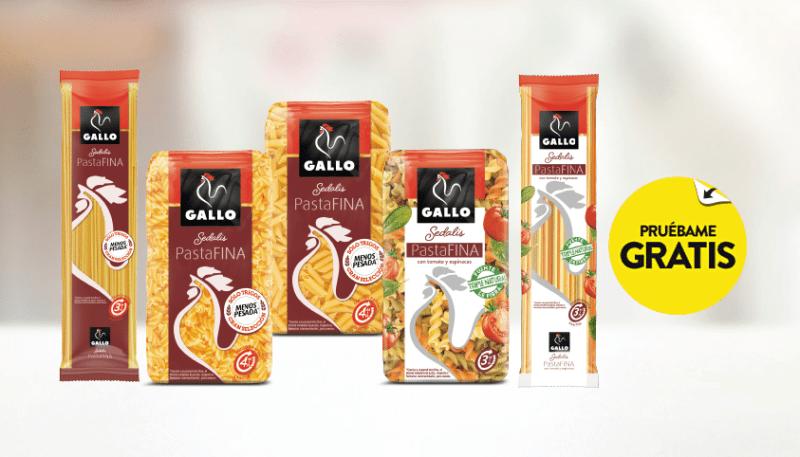 Prueba gratis pasta fina de Gallo