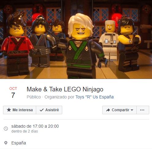 Juguete Lego gratis con Toys ´r us