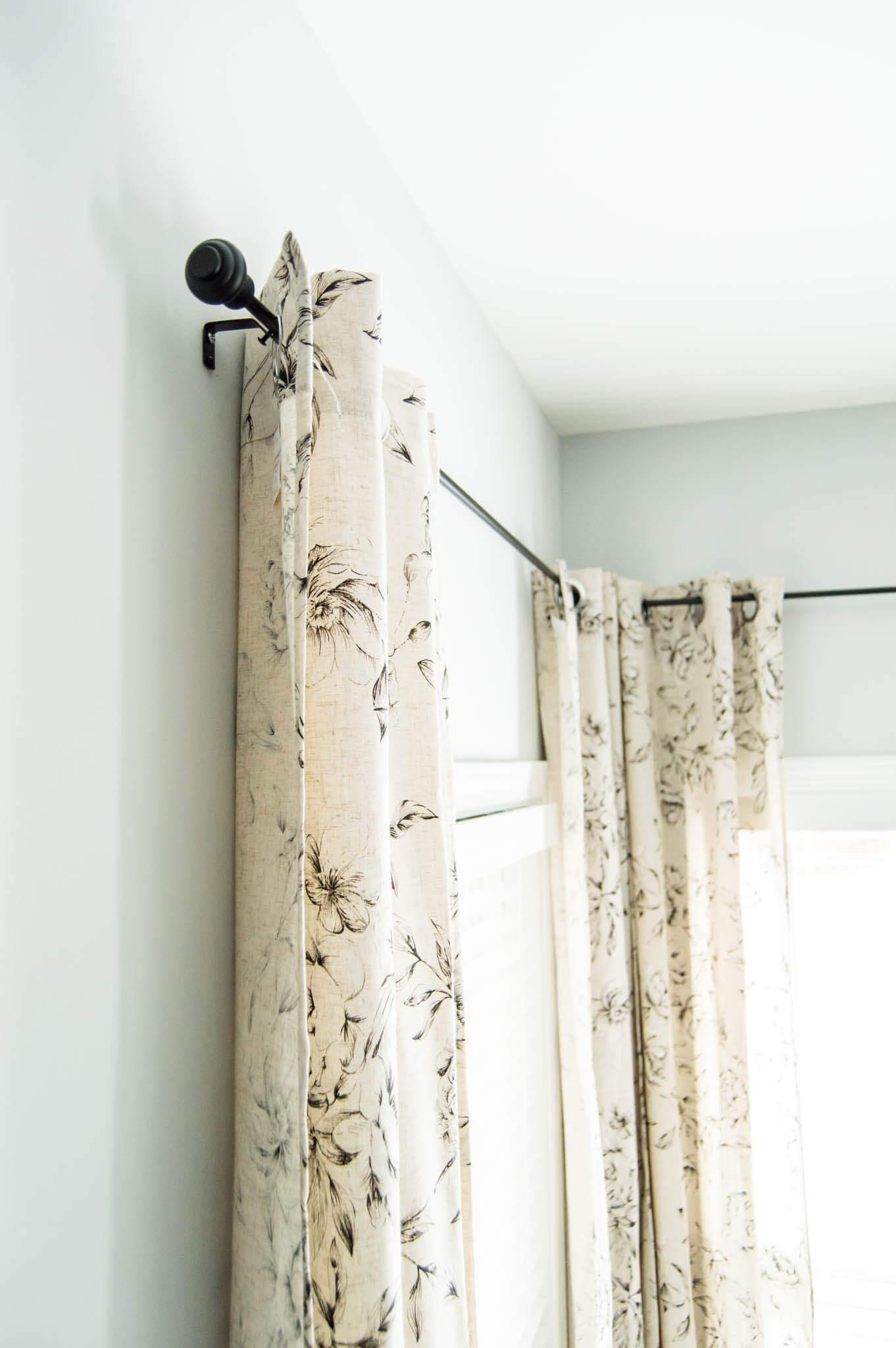 the perfect farmhouse floral curtains