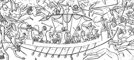 medinet-habu sea peoples boat