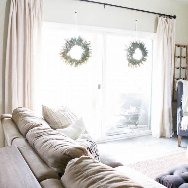 Modern Farmhouse Christmas - Living Room | ahouseandadog.com