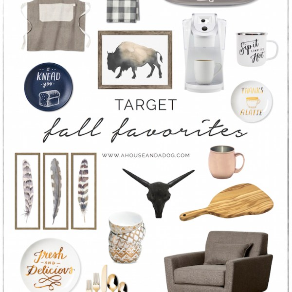 Fall Favorites from Target - Decor, Art & Kitchen | ahouseandadog.com