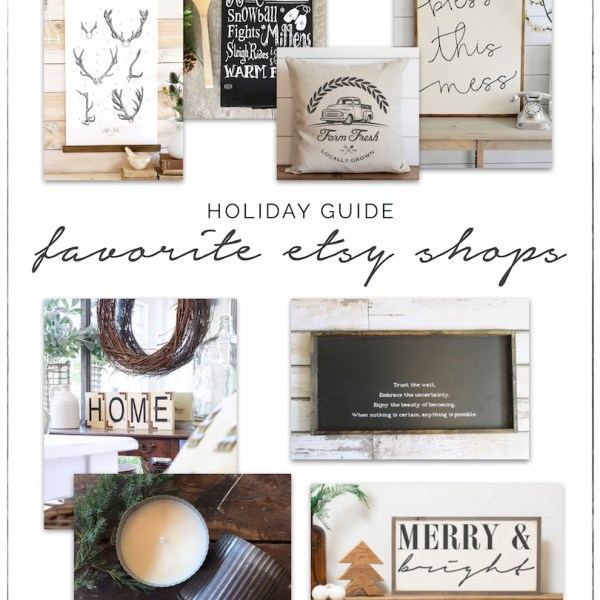 Holiday Shopping Guide - Etsy, Shop Small, Shop Handmade | ahouseandadog.com