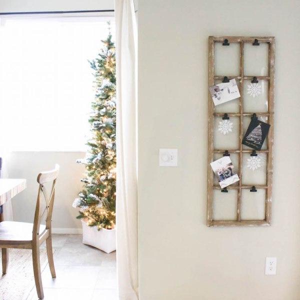 Simple & Easy Christmas Card Display