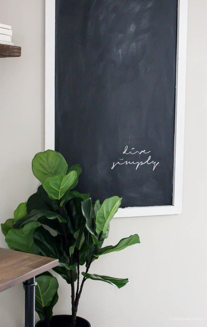 Easy DIY Chalkboard For Less Than $12 | ahouseandadog.com