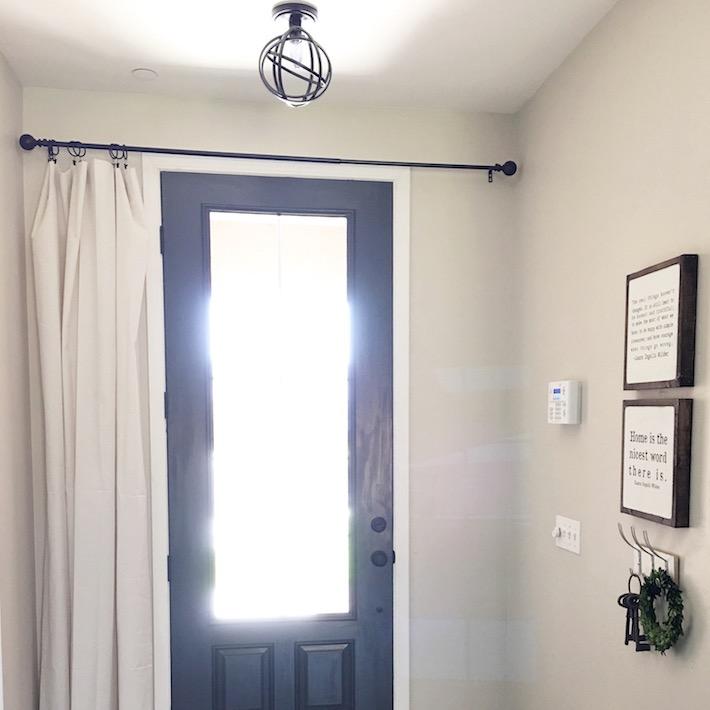 Farmhouse Front Door & Window Treatment | ahouseandadog.com